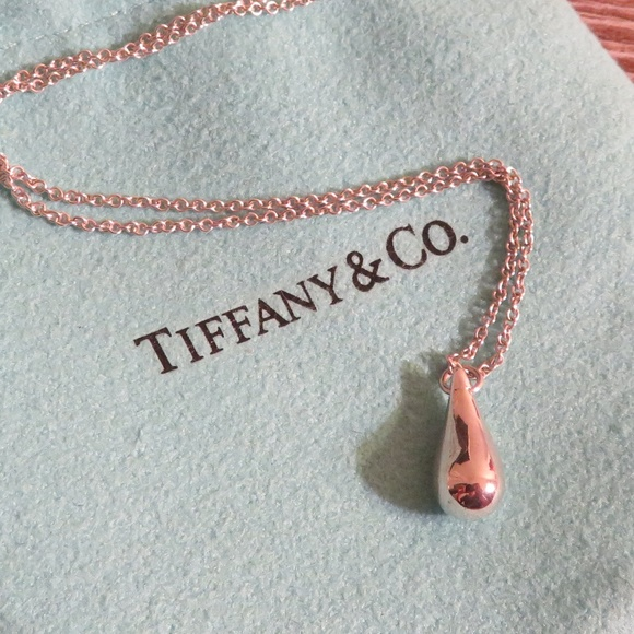 Tiffany & Co. Jewelry - Tiffany & Co. Elsa Peretti Teardrop Necklace 16''